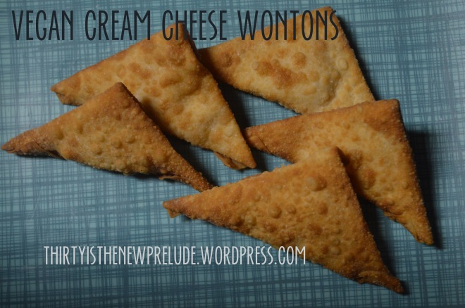 vegan cream cheese wontons
